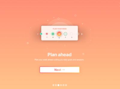 Serene Pro let's you start planning ahead app vector design icons gradient illustration ui