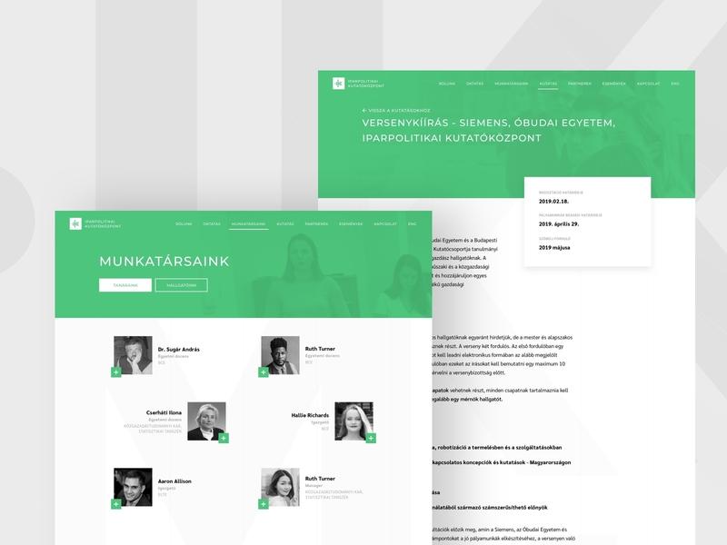 UI Design for Ipapolitikai Kutatóközpont web ui ux pro bono design