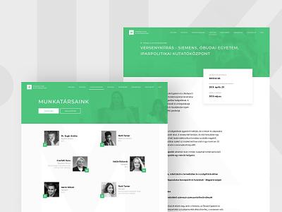 UI Design for Iparpolitikai Kutatóközpont web ui ux pro bono design