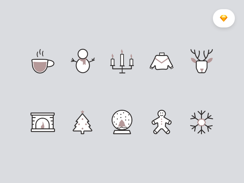 Winter icons 2x