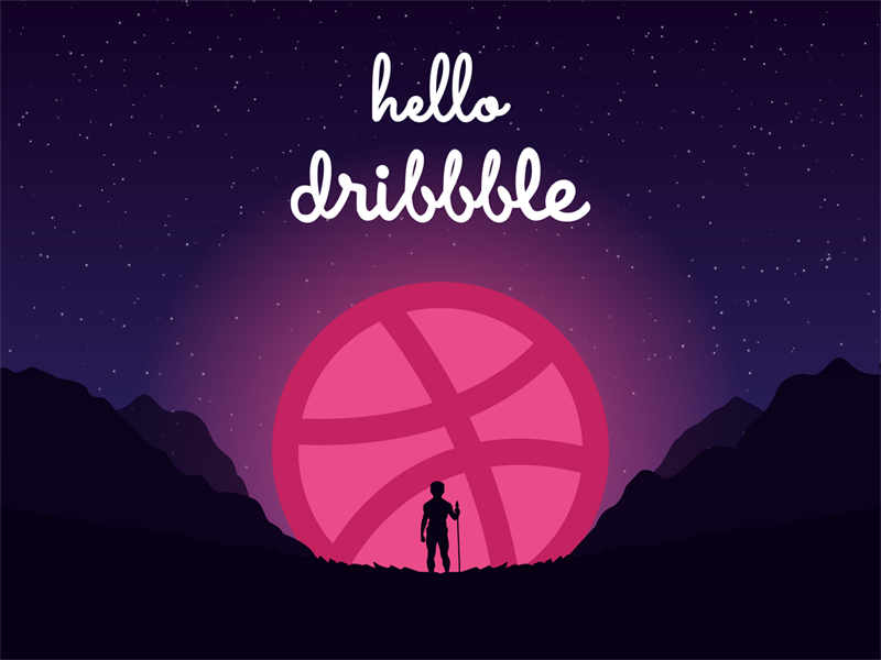 Hello Dribbble design shot first dribbble hello