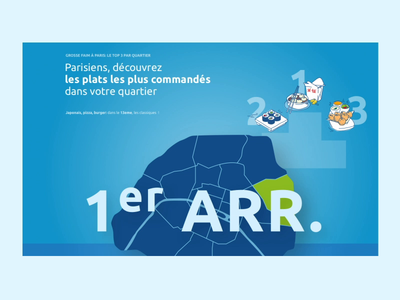 Just Eat interactive interface website animation illustration design