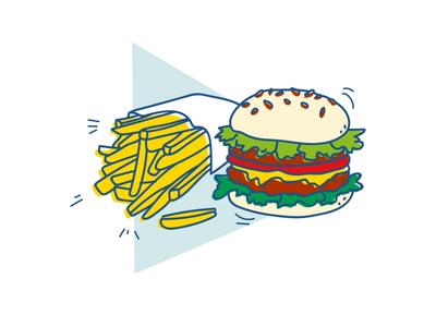 Just Eat Illustrations color food illustration design illustration