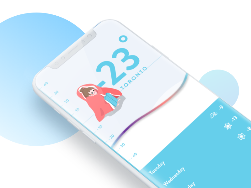 Daily UI #037 - Weather weather user interface canada toronto ui daily iphonex app freezing cold