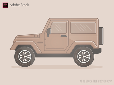 Off-road vehicle Extreme Sports 4x4 icon flat
