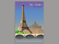 Paris To Normandy Travel Poster