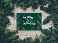 Holiday Card Design Pinecones