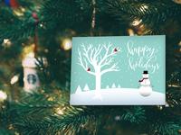 Holiday Card Design Snowman Holiday Card