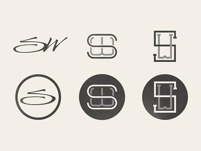 SW Revised sw mark logo brand type