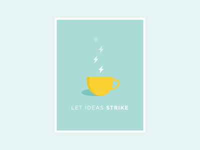 Coffee Bolts poster coffee mug typography flat