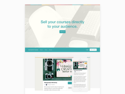 Landing Page for Courses gumroad product page landing website web