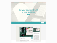 Landing Page for Courses