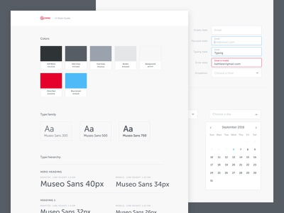 Omni Style Guide typography omni form web system design palette color guide style