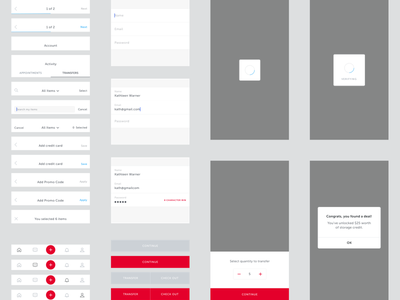 Omni Mobile UI Kit system style guide mobile ui kit omni