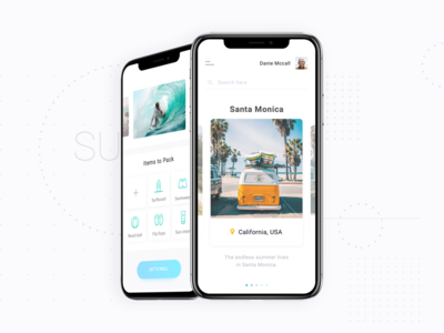Travel app (Surfing) iphone x california mobile app surf surfing travel app