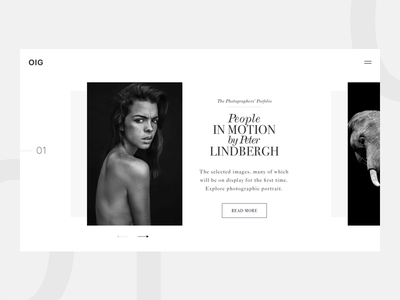 Fashion Portrait Gallery portrait photography photo slider gallery web page landing page magazine black and white fashion magazine