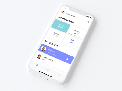 WIP - Medical Reminder App ux ui ios notifications drugs pills minimalism medicine medical mobile mobile app