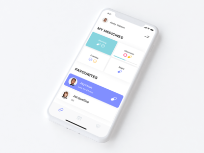 WIP - Medical Reminder App ux ui ios notifications drugs pills minimalism medicine medical mobile mobile app