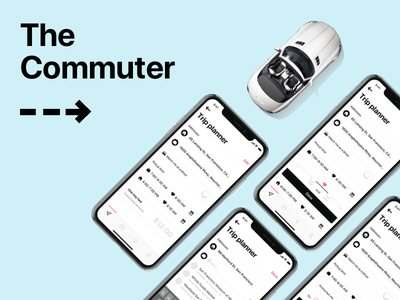 The Commuter - Trip planner commute carpool transport passenger account scoop ride car drive driver car sharing uber