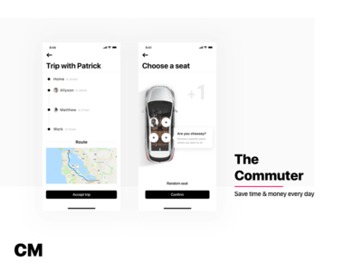 The Commuter - Part 5 commute carpool transport passenger seat profile ride car drive driver car sharing uber