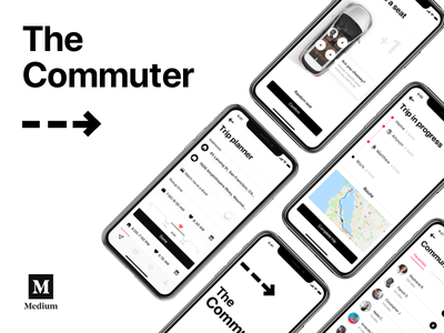 Medium debut — The Commuter passenger car drive transport uber scoop mobile app driver commute car sharing carpool