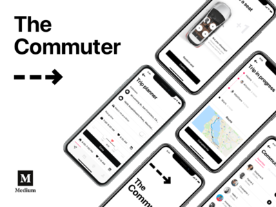Medium debut — The Commuter passenger car drive transport uber scoop mobile app driver commute car sharing carpool