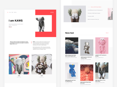 KAWS — Home page interior toy portfolio toy art object figurine figures figure personal website kaws companion