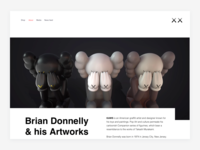 KAWS — About (Header)