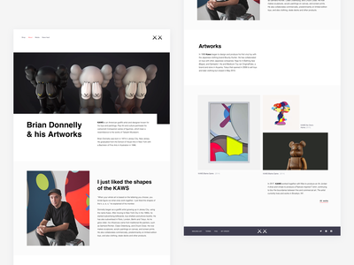 KAWS — About newsfeed artist story artist about biography companion kaws figure figures figurine art object toy personal website portfolio interior toy