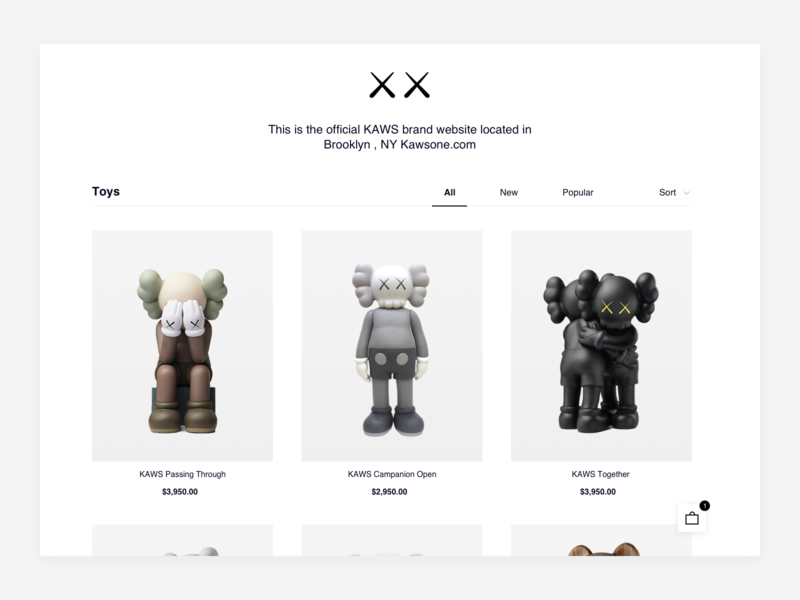 KAWS — Online store shop online shop online shopping online shop online store retail interior toy personal website toy art object figurine figures figure kaws companion artist