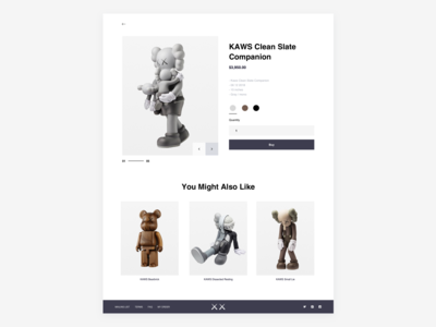KAWS — Online store (Product page)