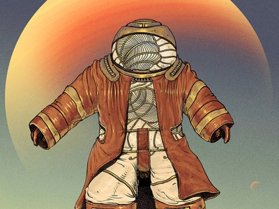 Sandwalker sandwich nft wind character design planet sky animation character steampunk desert sand