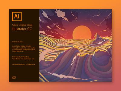 Illustrator CC 2017 screen splash 2017 cc adobe illustrator