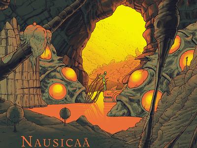 Nausicaä fluorescent miyazaki ghibli sci-fi nature film movie print artprint screenprint nausicaä