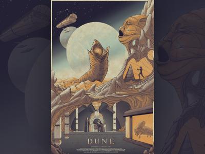 Dune sculpture ship spaceship mountain worm moon desert scifi sci-fi lynch dune
