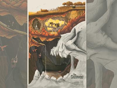 The Goonies film poster skull cave screenprint goonies