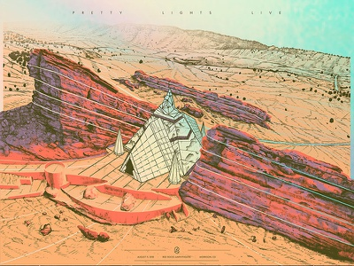 Pretty Lights - Red Rocks redrocks desert foil rainbow holographic landscape temple crystal pyramid