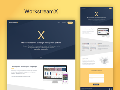Workstream X Brochure Website jekyll sketch campaign management system one pager new product launch ux design internal design web website brochure branding