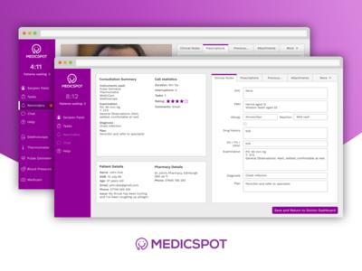 Medicspot Redesign design ui video ux hill jared medicspot telemedicine desktop sketch