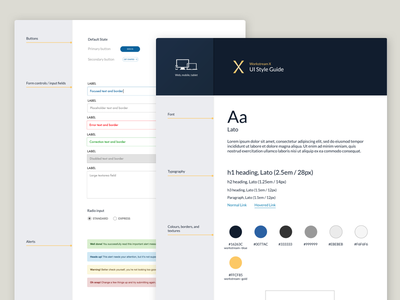 Workstream X Style Guide ux design jared hill style guide system visual ui workstream