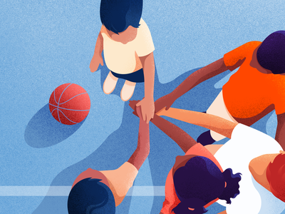 The team adobeillustator illustrator vectors kids basketball team childrenillustration children character noise illustration