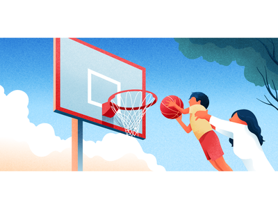 Shooter 🏀 child material vector character colors noise illustration