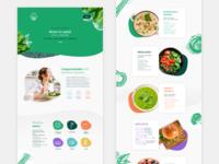 Web design healthy restaurant