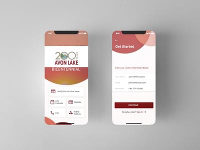 Avon Lake - App UI design