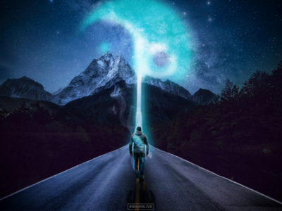 Photo Manipulation - Into the sky