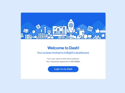 Welcome email design blue email design email dashboad analytics illustration ui  ux product design product interactive ui design ui design