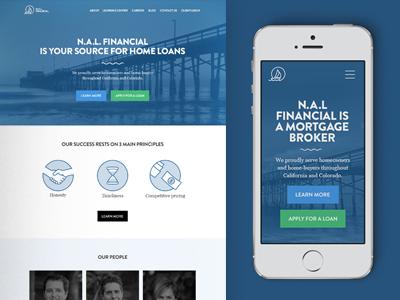 N.A.L. Responsive Site loan mortgage financial blue web web design website
