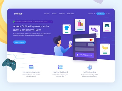 Payment Gateway - Web Design product design web design icon vector payment gateway payment app ui ux graphic design illustration webdesign web design
