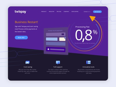 Business Restart - Landing Page ux ui digital agency online payments payment gateway product design ux design ui design website concept website design landing page design landing page