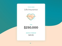Mobile App - Life insurance swipe card